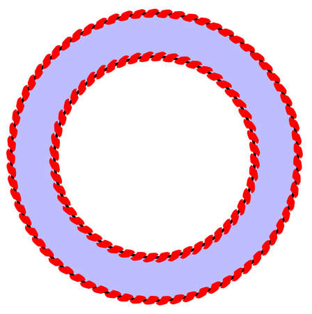 A pair of rope borders isolated on a white background