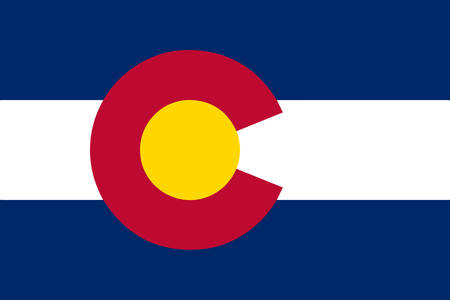 colorado flag: The United States of American state flat of colorado