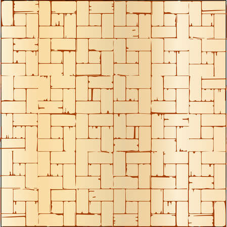 inset: A wooden parquet flooring pattern as a background  Illustration