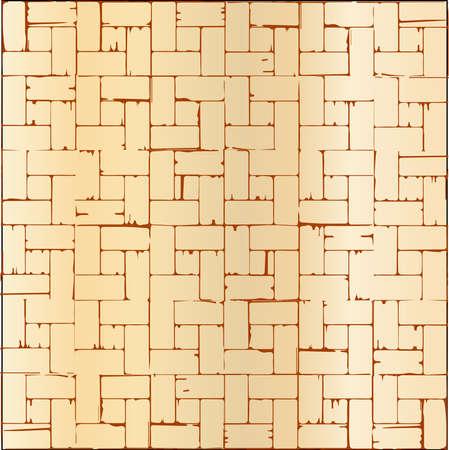 tarima madera: Un patr�n de suelo de parquet de madera como fondo Vectores