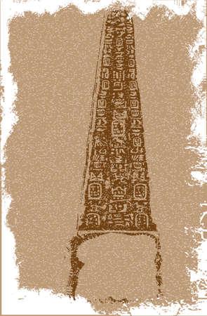artefact: An Egyptian needle type artefact in sepia type tones