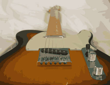 An art type effect on a modern electric guitar