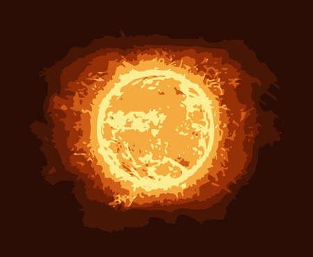 A sun like fireball or abstract nuclear explosion