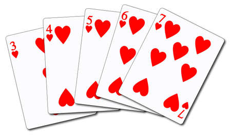 straight flush: Straight Flush poker cards Illustration