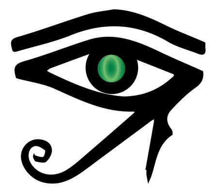ra: The eye of Ra as found in Egyptian tombs Illustration