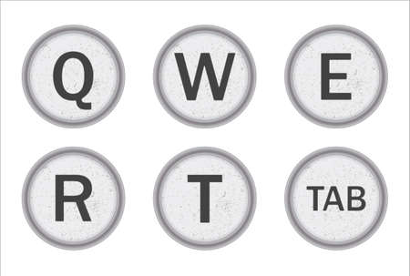 Typewriter Keys QWERT
