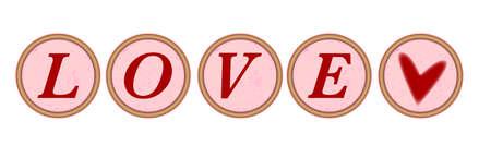 m�quina de escribir vieja: Claves de la m�quina con las cartas de amor y un coraz�n sobre un fondo blanco