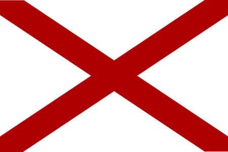 alabama flag: The flag of the United States state Alabama
