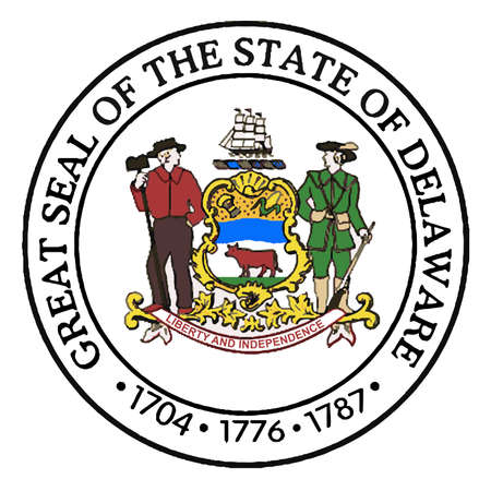 great seal: The Great Seal of Delaware over a white background