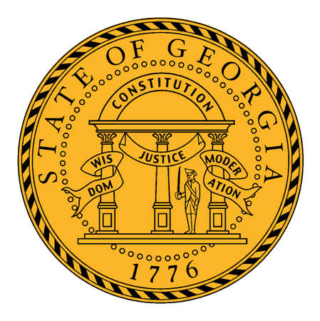 The State Seal of Georgia on a white background Vector