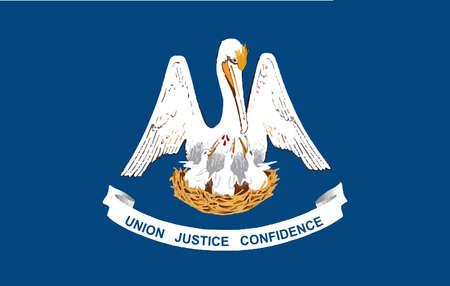louisiana flag: The U S State of Louisiana flag Illustration