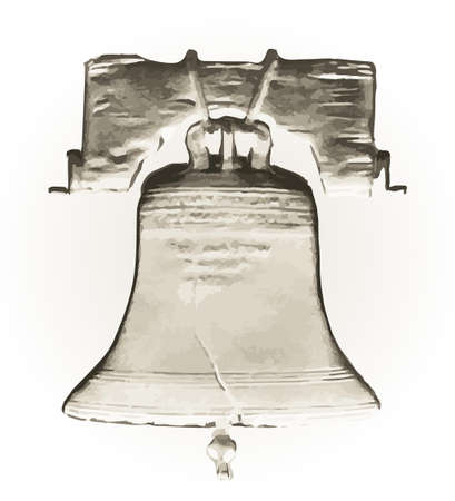 liberty bell: Abstract Liberty Bell over a white background
