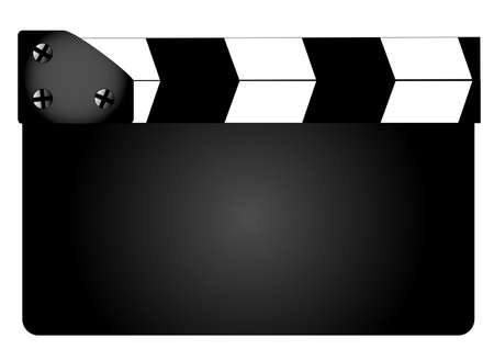 home video camera: A typical movie clapperboard with no legend isolated on white.