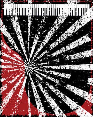 venue: Un poster grunge jazz locale con pianoforte Vettoriali