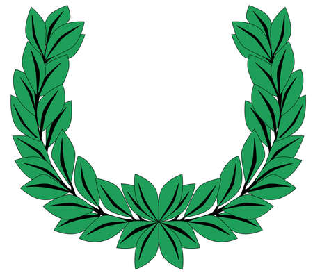 A crown of olive leaves on a white background