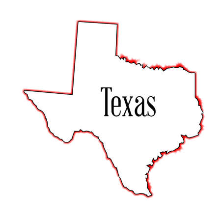 Outline of the state of Texas isolated