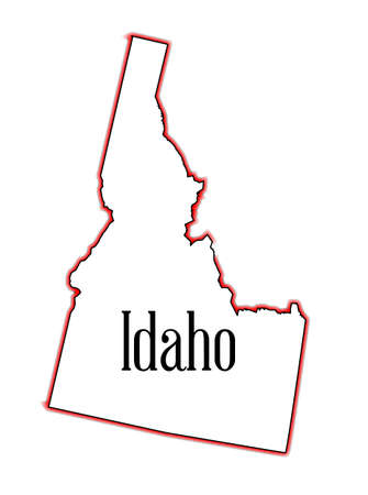 Outline of the state of Idaho isolated