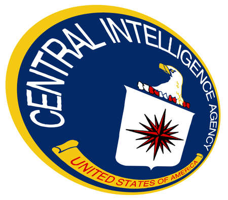 fbi: A perspective view of the CIA crest over a white background Illustration