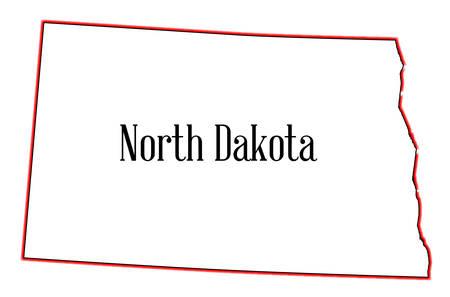 dakota: Outline of the state of North Dakota isolated