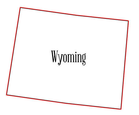 Outline of the state of Wyoming isolated 向量圖像
