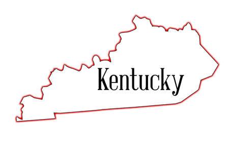 Tat du Kentucky carte croquis sur un fond blanc Banque d'images - 31813155
