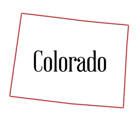 白地にコロラド州の州のマップのアウトライン  イラスト・ベクター素材