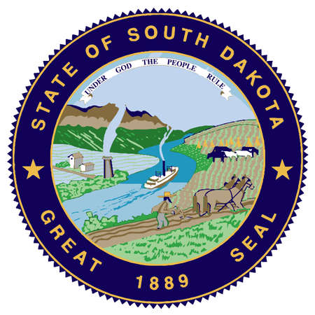 great seal: Il grande sigillo dello stato americano del South Dakota