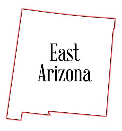 アリゾナ州の白い背景の上の概略図