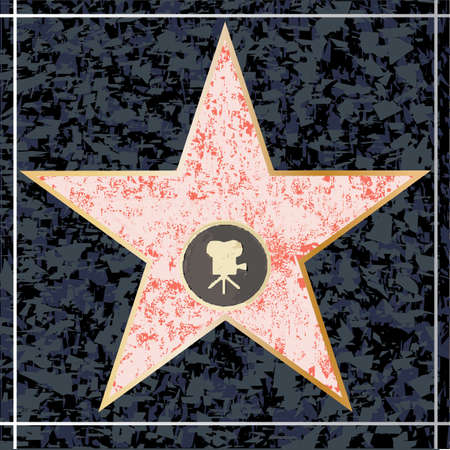 A depiction of a blank star walk of fame plaque
