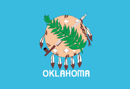 The flag of the state of Oklahoma Vector
