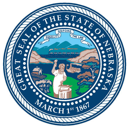 great seal: The seal of the American state of Nebraska Illustration