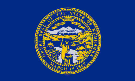 great seal: The flag of the American state of Nebraska Illustration