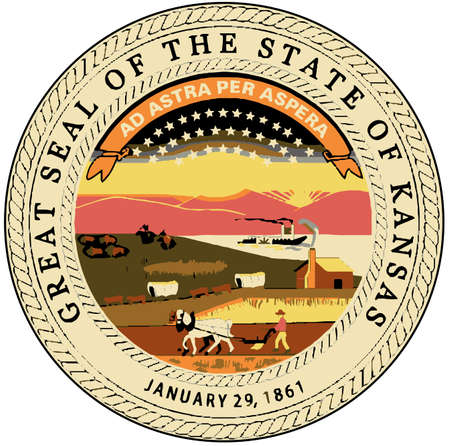 great seal: The great seal of the state of Kansas