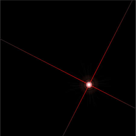 lazer: A lazer beam over a black background with flare