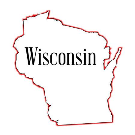 アメリカ ウィスコンシン州の概略図