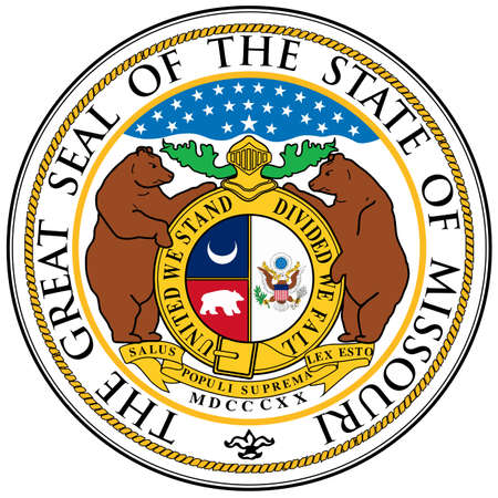 great seal: The great seal of the state of Missouri Illustration