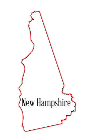 Outline map of the state of New Hampshire Vector