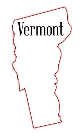 Schema mappa dello stato del Maine su bianco Archivio Fotografico - 32348874