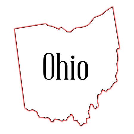 Outline map of the state of Ohio