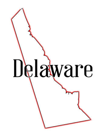 Outline Map Of The State Of Delaware Royalty Free Cliparts - State of delaware map