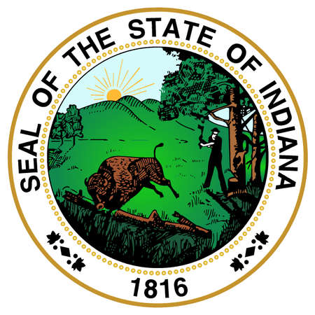 great seal: The great seal of the state of Indiana