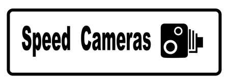 A traditional speeding camera warning sign