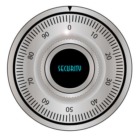 deterrent: A Safe Combination Lock as found on high security systems over a white background