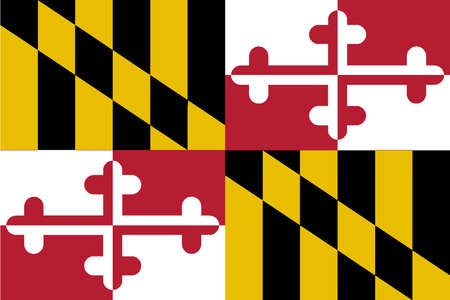 The USA state of Maryland state flag