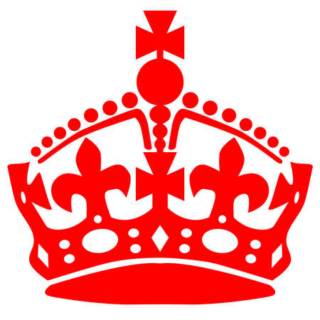 Crown as used in stay calm material over a white background 向量圖像