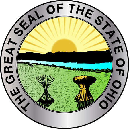 The great seal of the state of Ohio Vettoriali