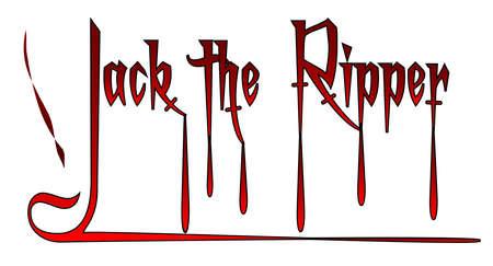 ripper: A jack the ripper script over a white background