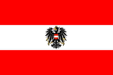 The Austrian flag with the coat of arms Vector