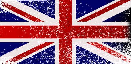 grunge union jack: A silhouette of the United Kingdom set over a union flag.