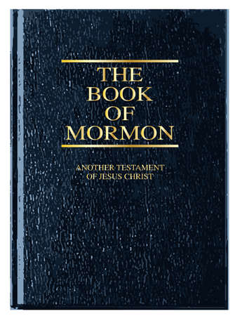 mormon: The front cover of The Book of Mormon over a white background